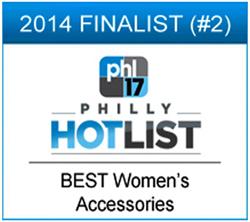 2014 Finalist for best women's accessories